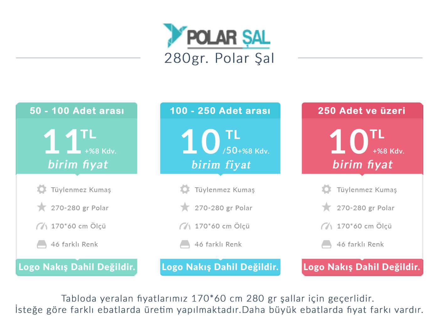 polar şal fiyatları